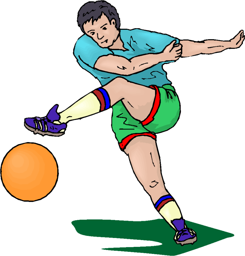 Football Player Holding The Ball For Kicker Royalty Free Clipart