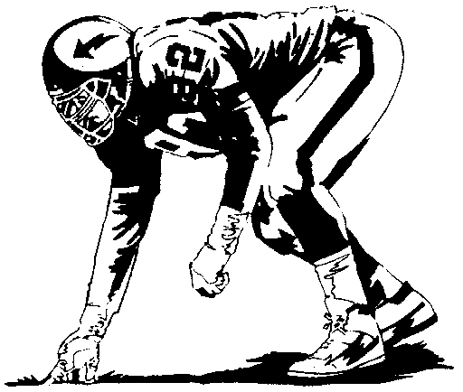 Football Player Ripping Through A Hole Royalty Free Picture
