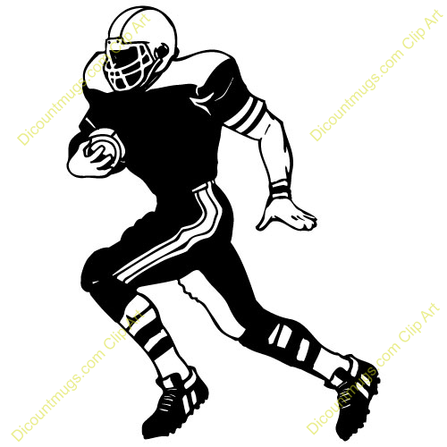 Football Player Running Clip Art Free Clipart Images