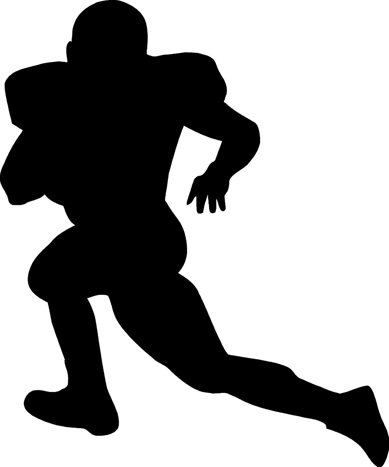 Best Football Player Clipart Black And White #21025 ...