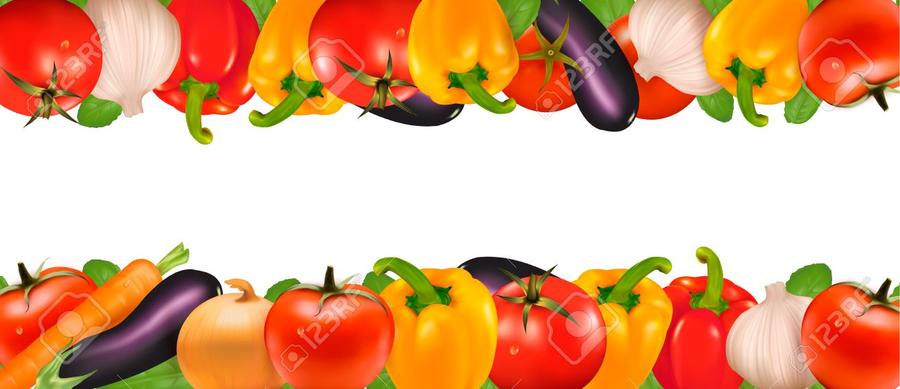 Frame Made Of Vegetables Royalty Free Cliparts Vectors And Stock