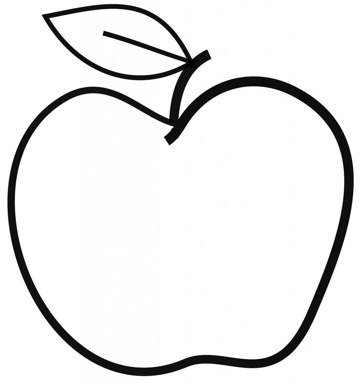 Black and white apple clip art - Dessin pomme apple ...