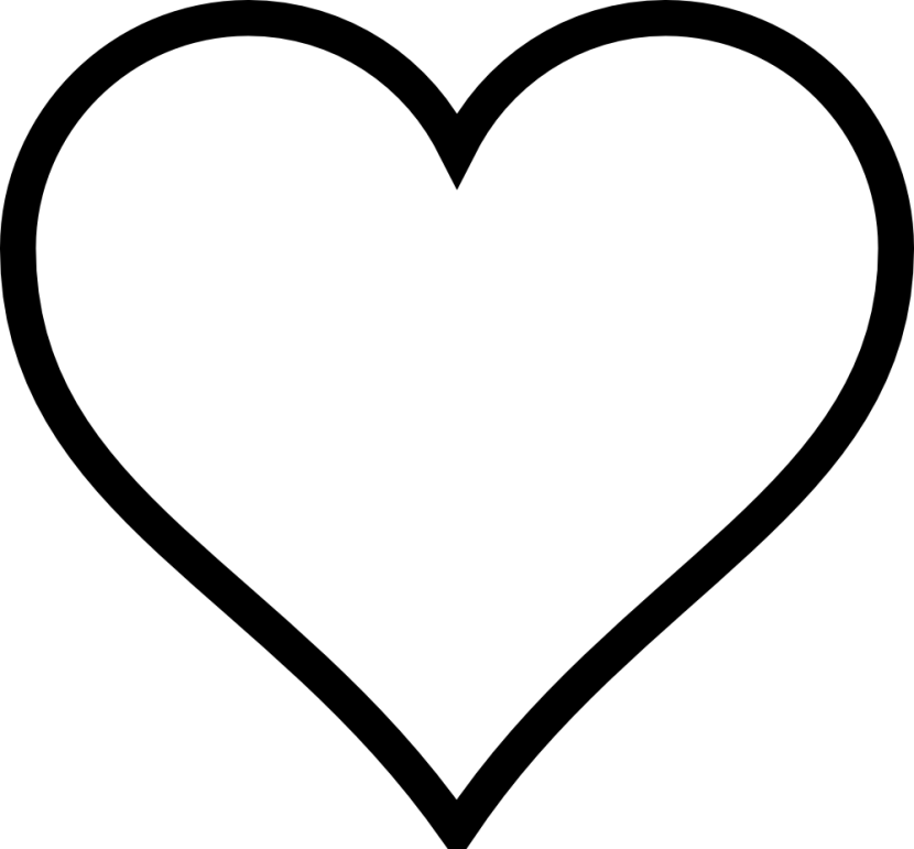 Free Black And White Clipart Heart