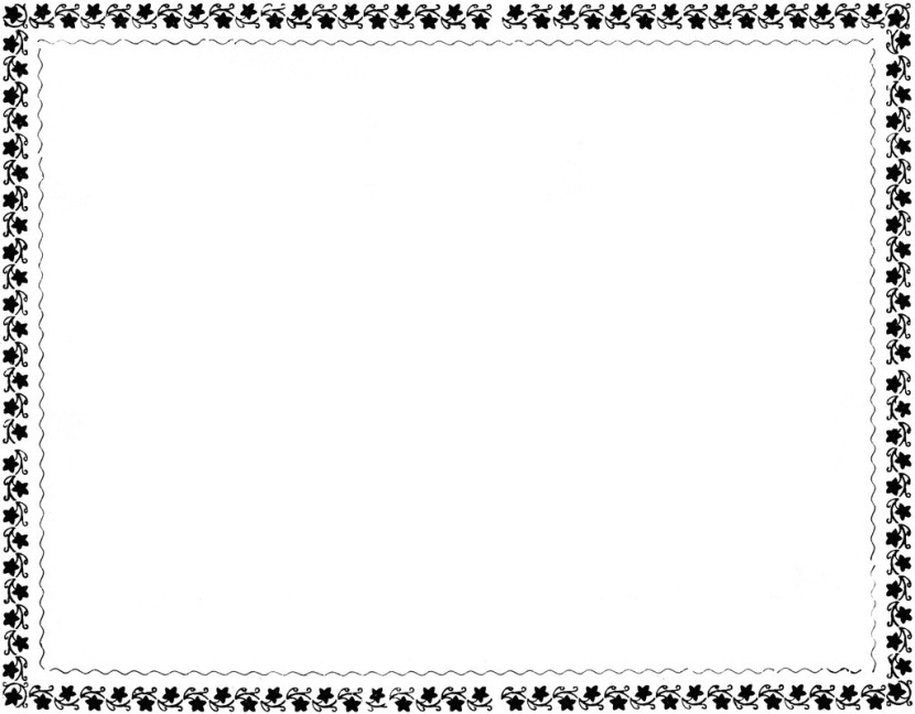 Free Black And White Flower Border Clip Art