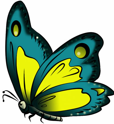 Free Butterfly Clip Art Drawings And Colorful Images