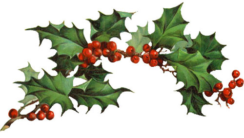 Free Christmas Clipart Vintage Holly