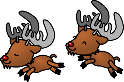 Free Christmas Reindeers Clipart Graphics And Images