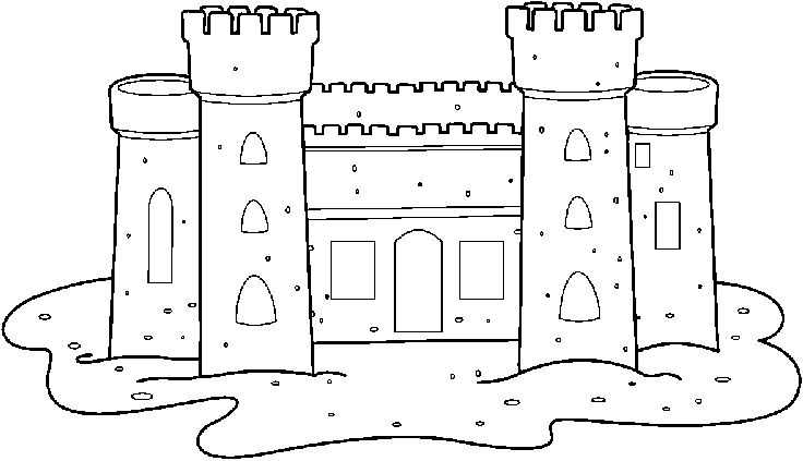 Free Clip Art Castles And Celebrations Images Black And