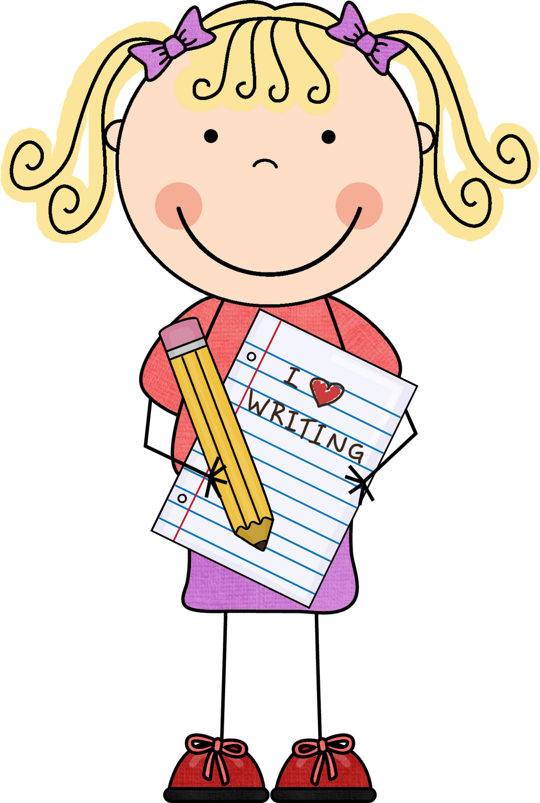Free Clip Art Children Writing Free Clipart Images