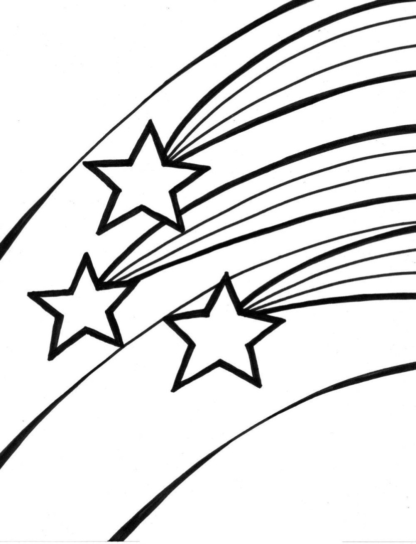 Free Coloring Pages Of A Shooting Star