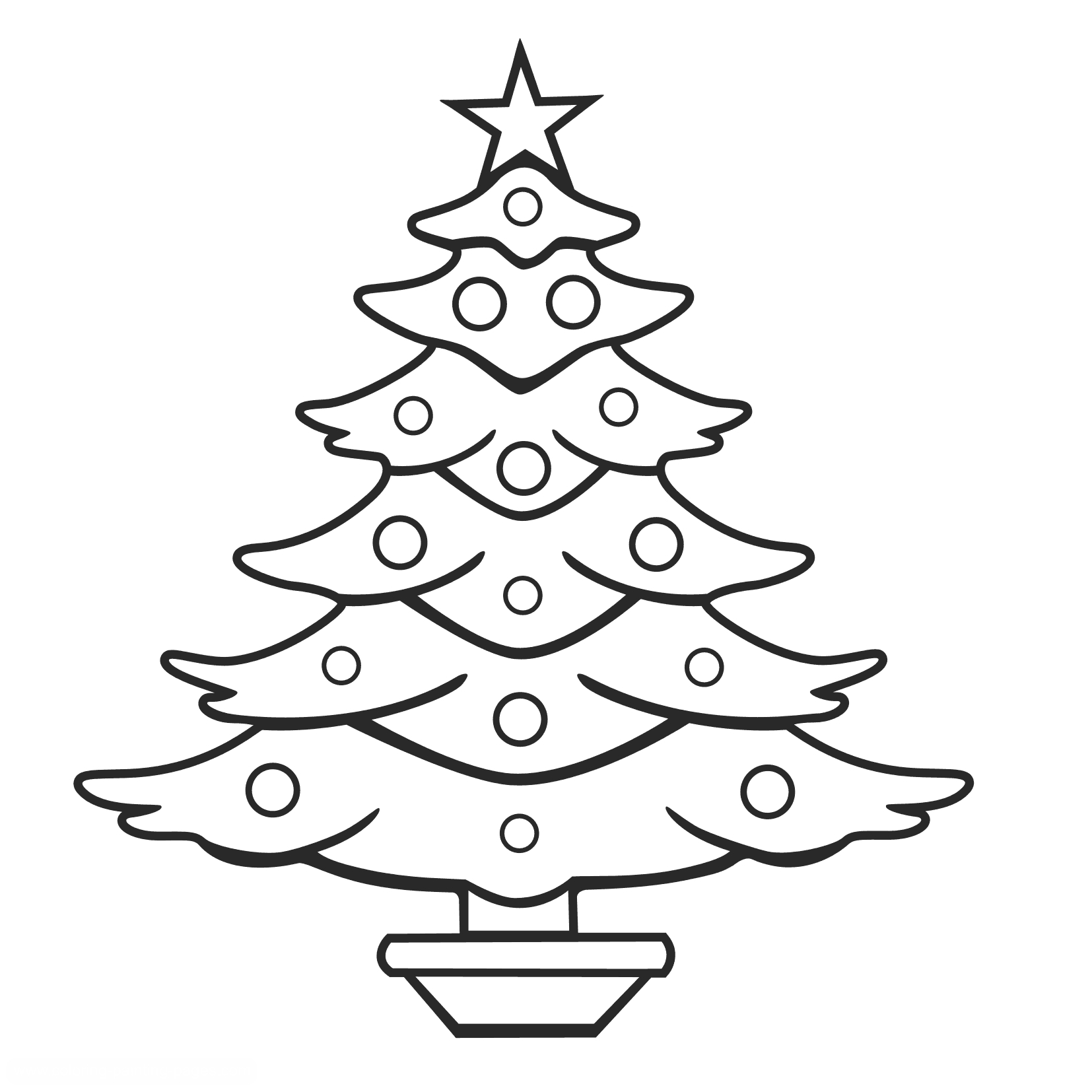 best christmas tree outline  7027