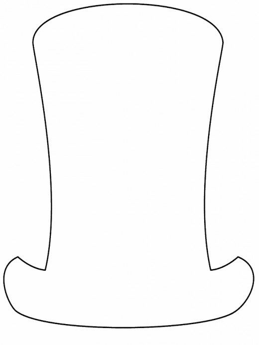 abraham lincoln hat coloring pages - photo#2