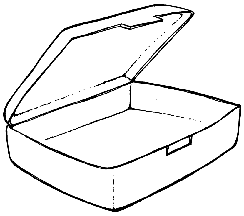 Free Coloring Pages Of Lunch Box Template