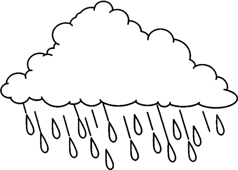 Free Coloring Pages Of Rain Cloud