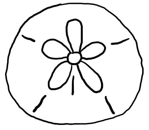 Free Coloring Pages Of Sand Dollars