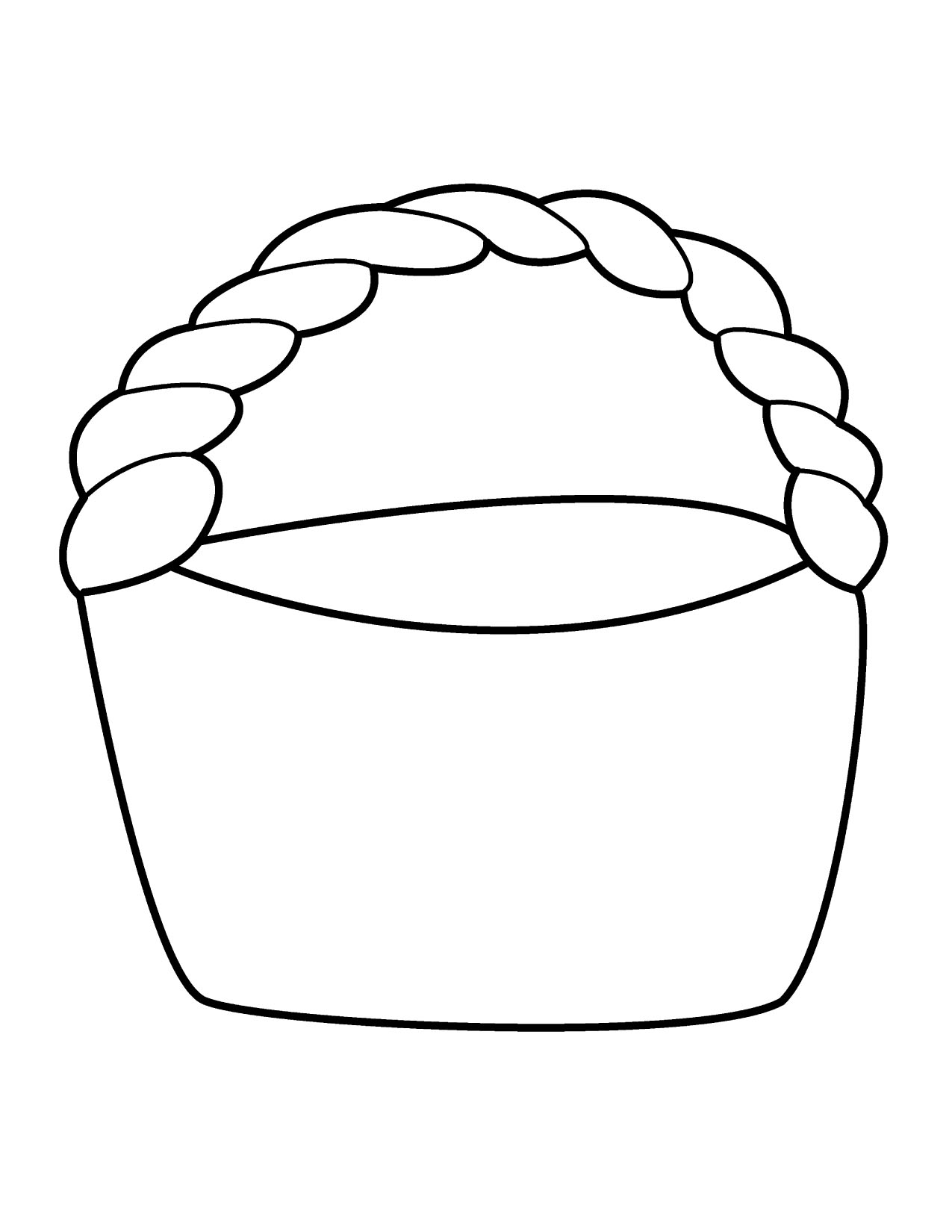 Easter Basket Coloring Page - Coloring Home | 1650x1275