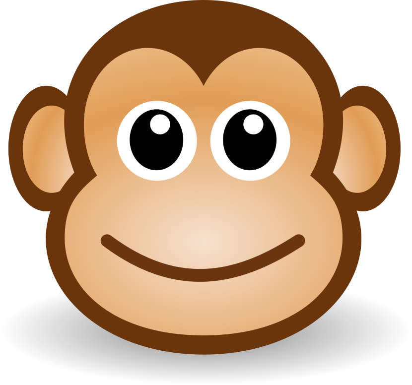 Free Cute Cartoon Monkey Clipart Illustration