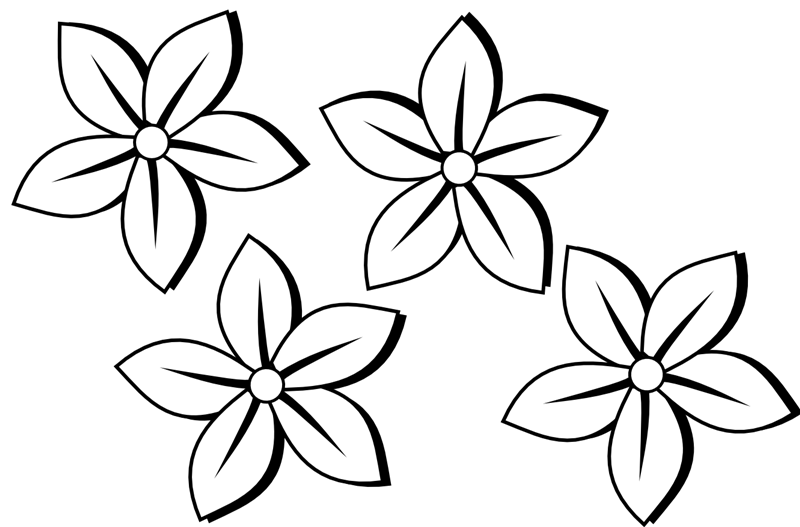 Free Flower Clip Art Black And White
