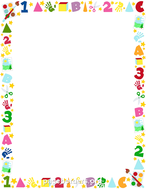 Free Kid\'s Borders Clip Art Page Borders And Vector Graphics
