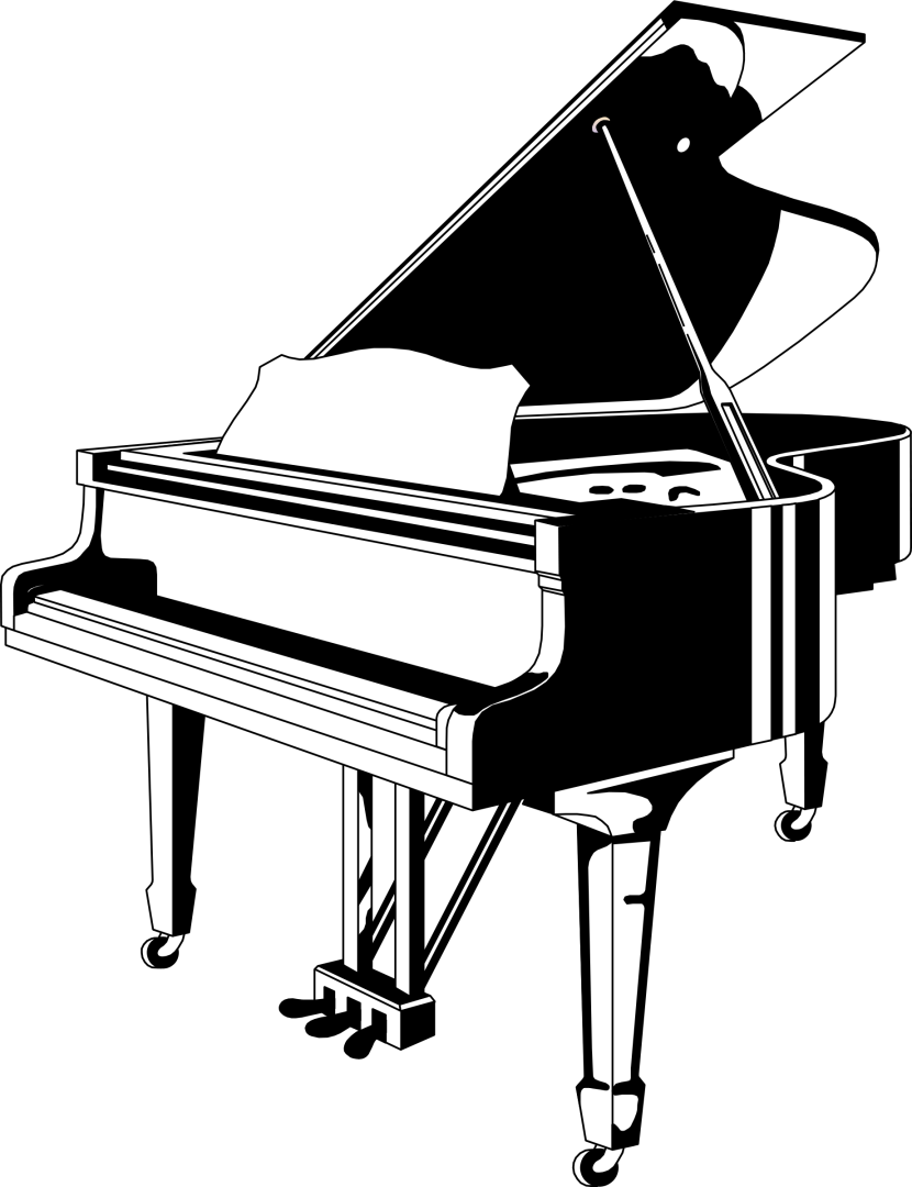 Free Piano Clipart Black And White