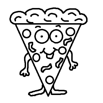 Free Pizza Clipart Black And White Search Results