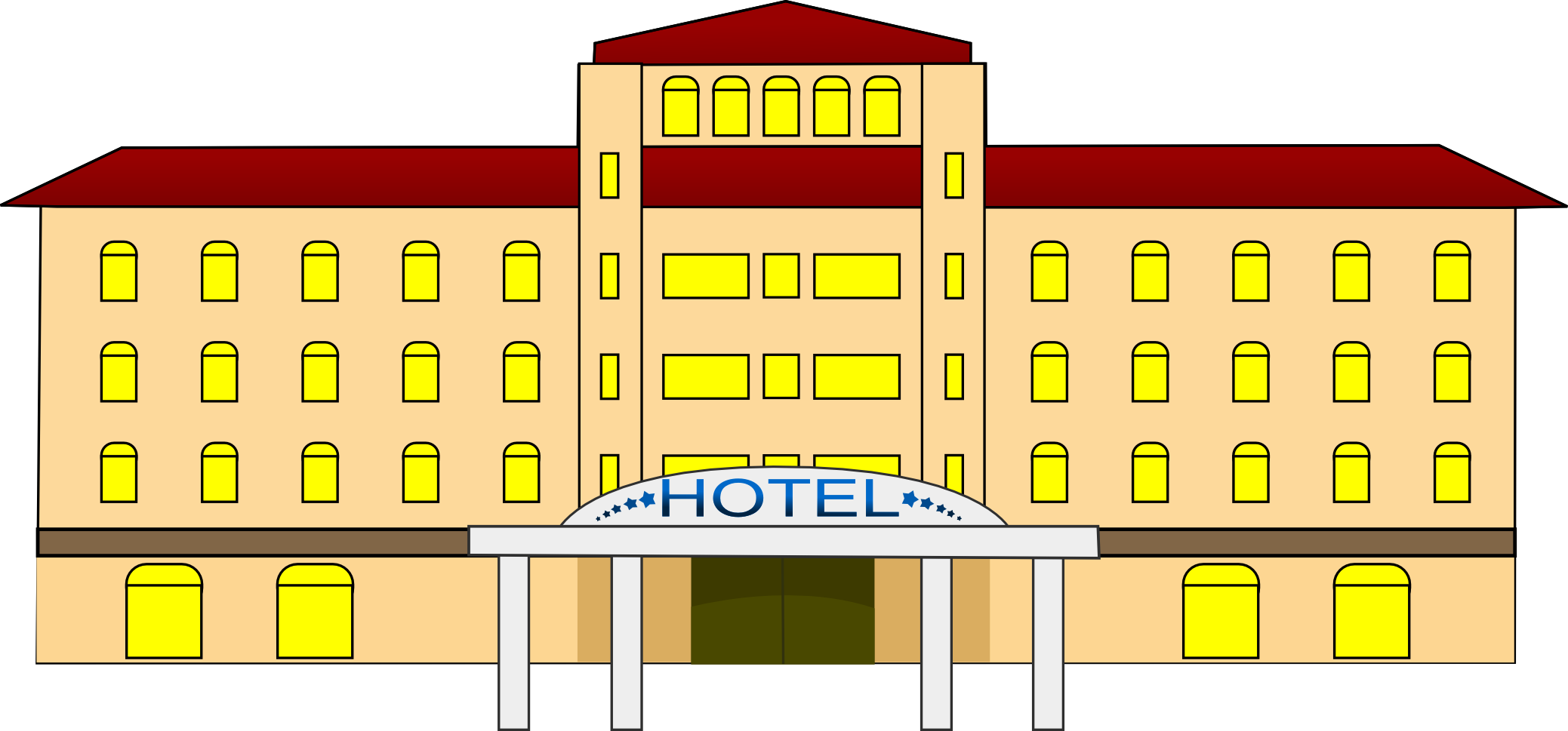 Best Hotel Clipart  Clipartion Com