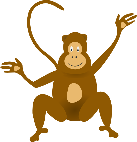 Free To Use Amp Public Domain Monkey Clip Art Page 2