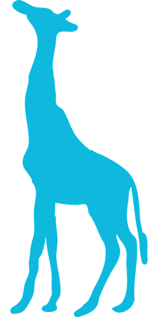 Free Vector Graphic Giraffe Silhouette Blue Isolated Free