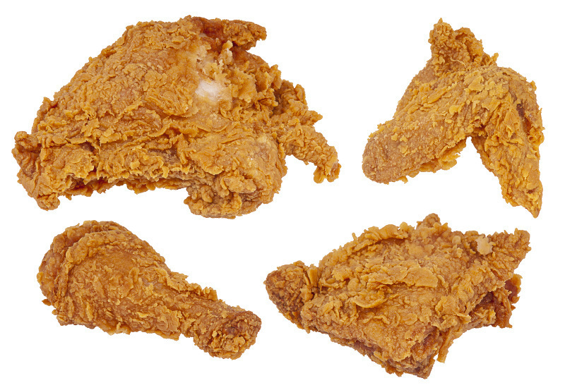 Fried Chicken Parts Food Meat Chicken