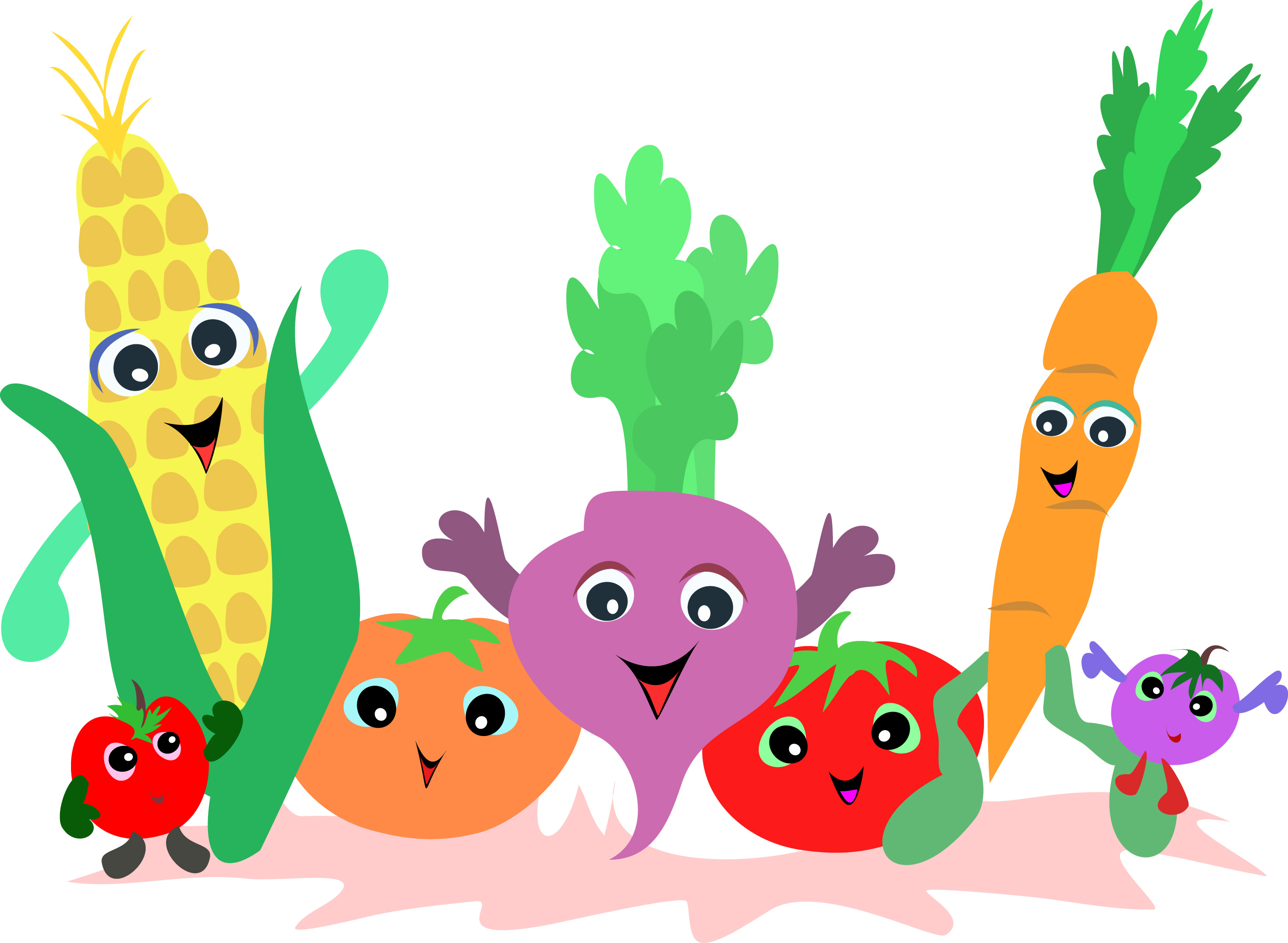 Fruit And Vegetable Clipart Black And White Free