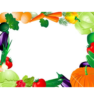 Fruits And Vegetables Border Clipart Free