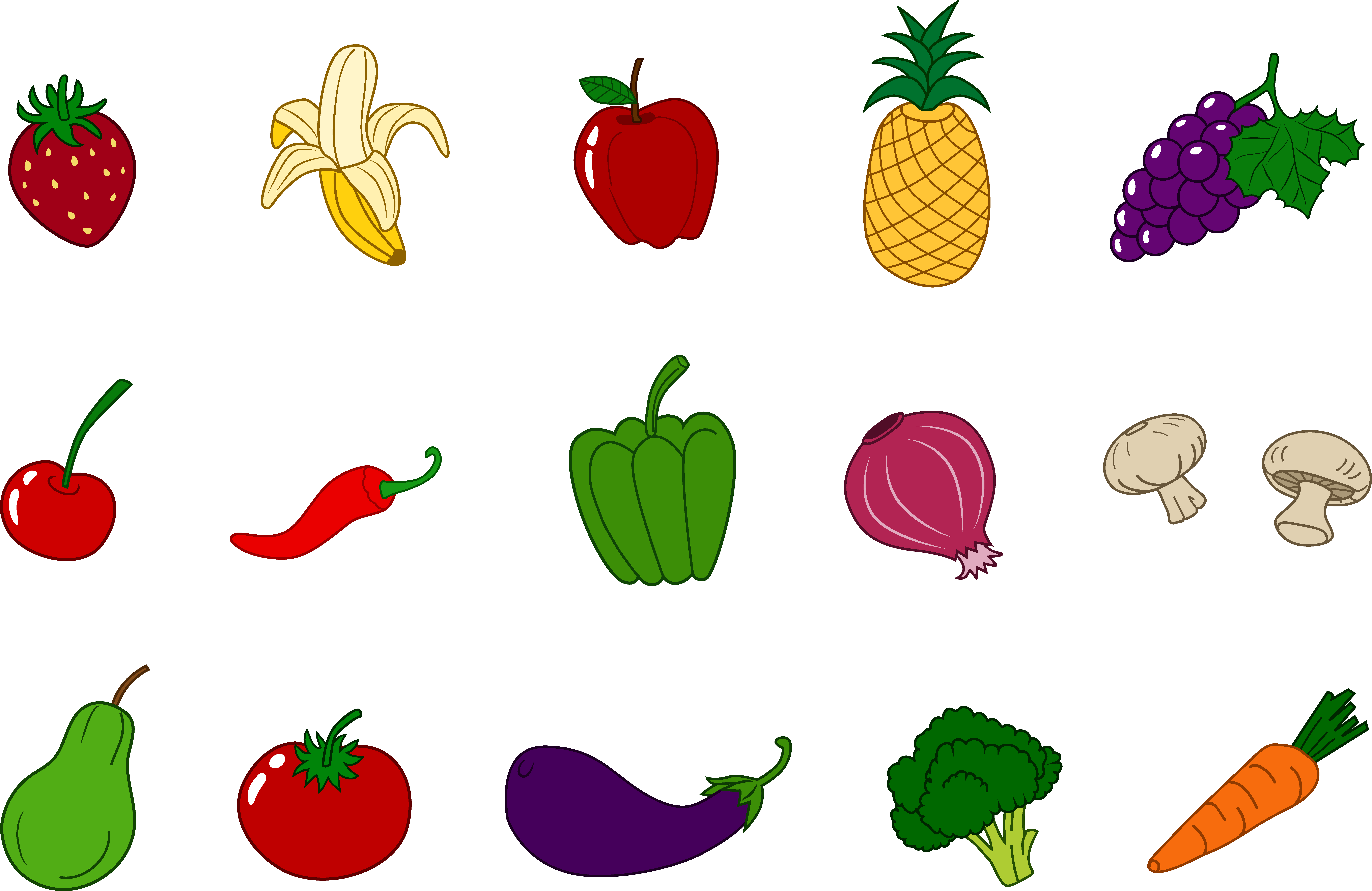 fruits and vegetables clipart rh polizeiberichte info clipart pictures of vegetables free clipart of vegetables