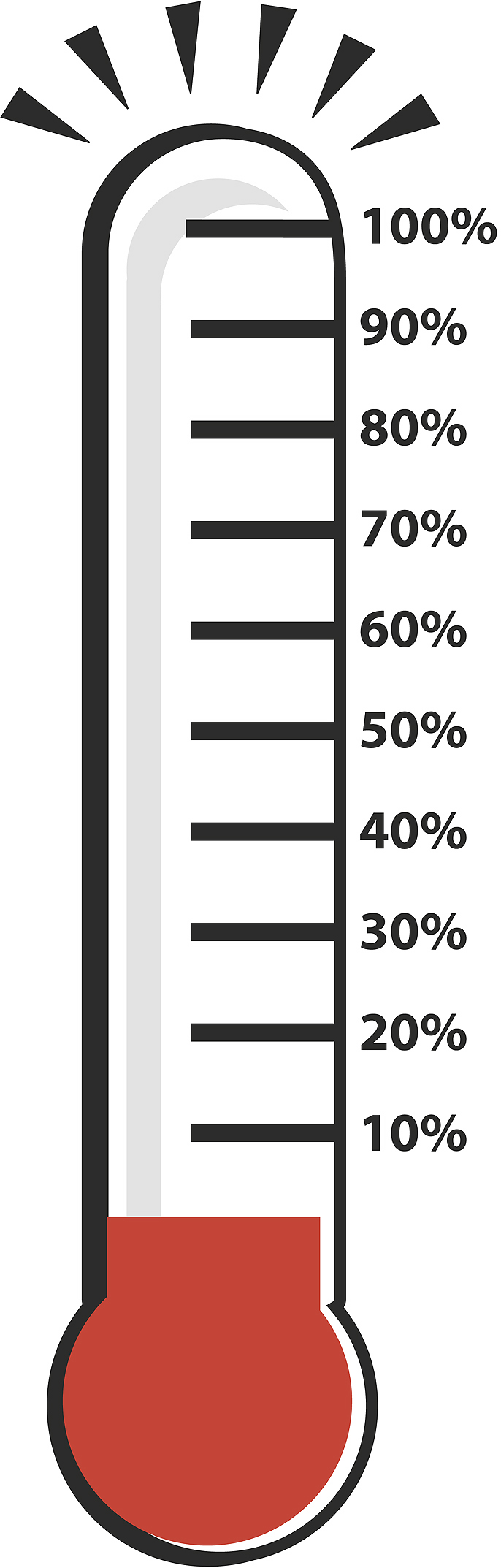 Fundraising Thermometer Clip Art