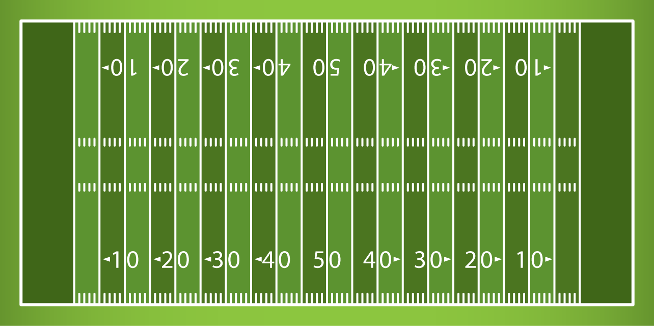 Football field clipart black and white