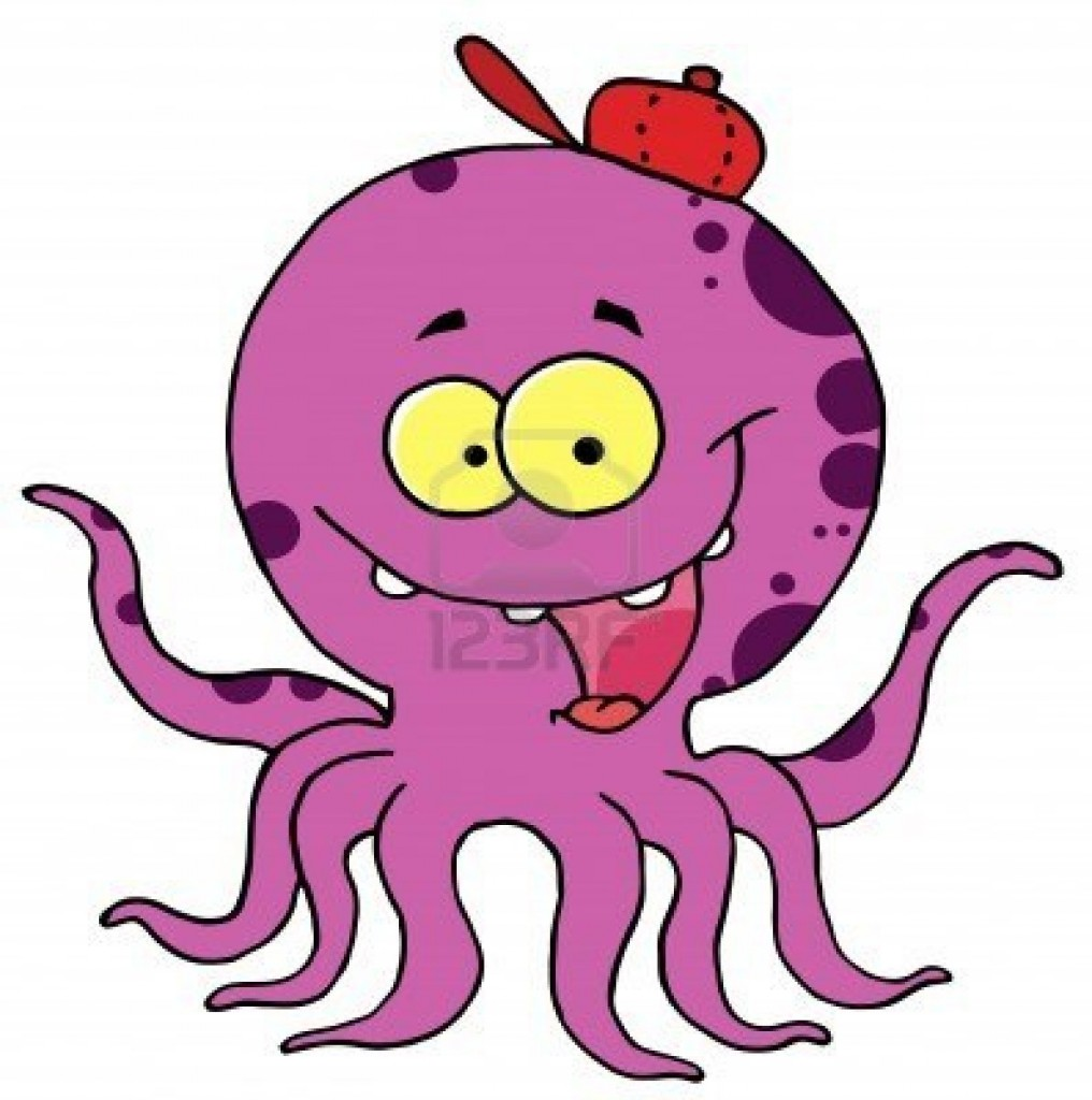 Funny Octopus Clip Art Clipart Pictures