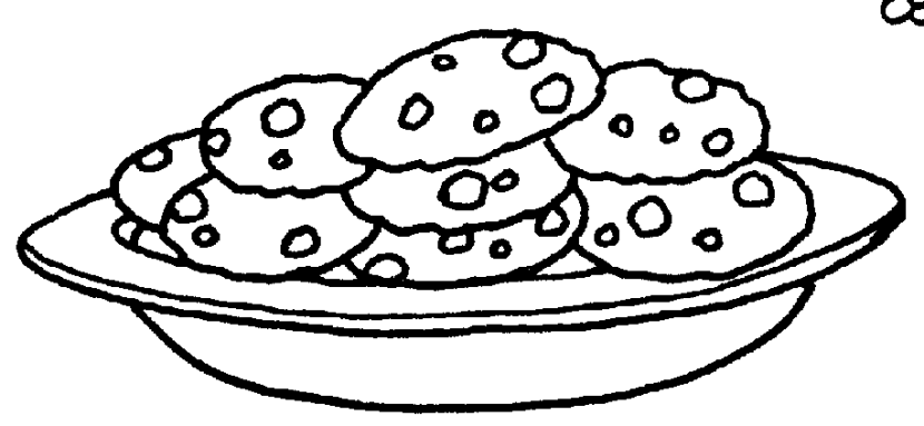 Get Free Clipart Plate Of Cookies With A Spark Imagegator
