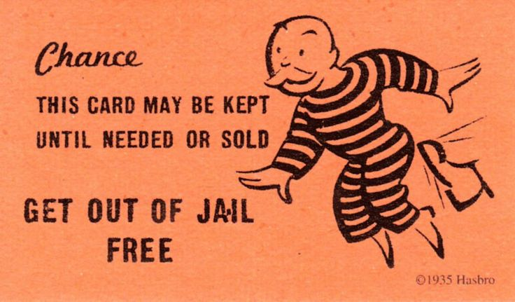 Get Out Of Jail Free Card Clip Art Are The Quot Get Out Of Jail Free