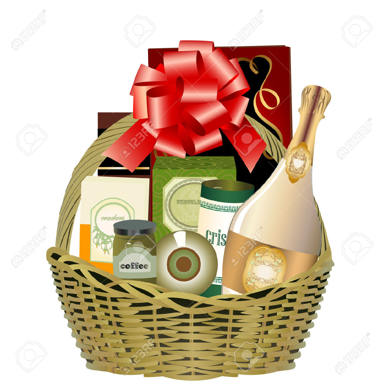 Gift Hamper Royalty Free Cliparts Vectors And Stock Illustration