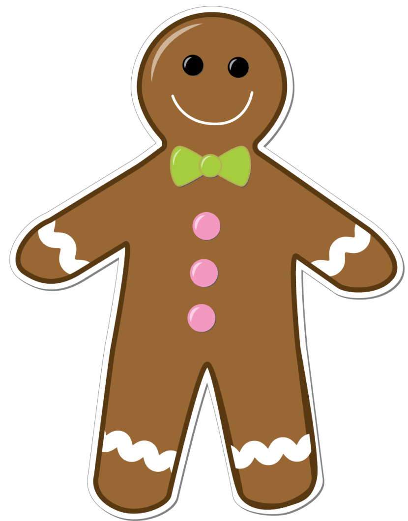 Gingerbread Man Border Clipart Free Clip Art Images