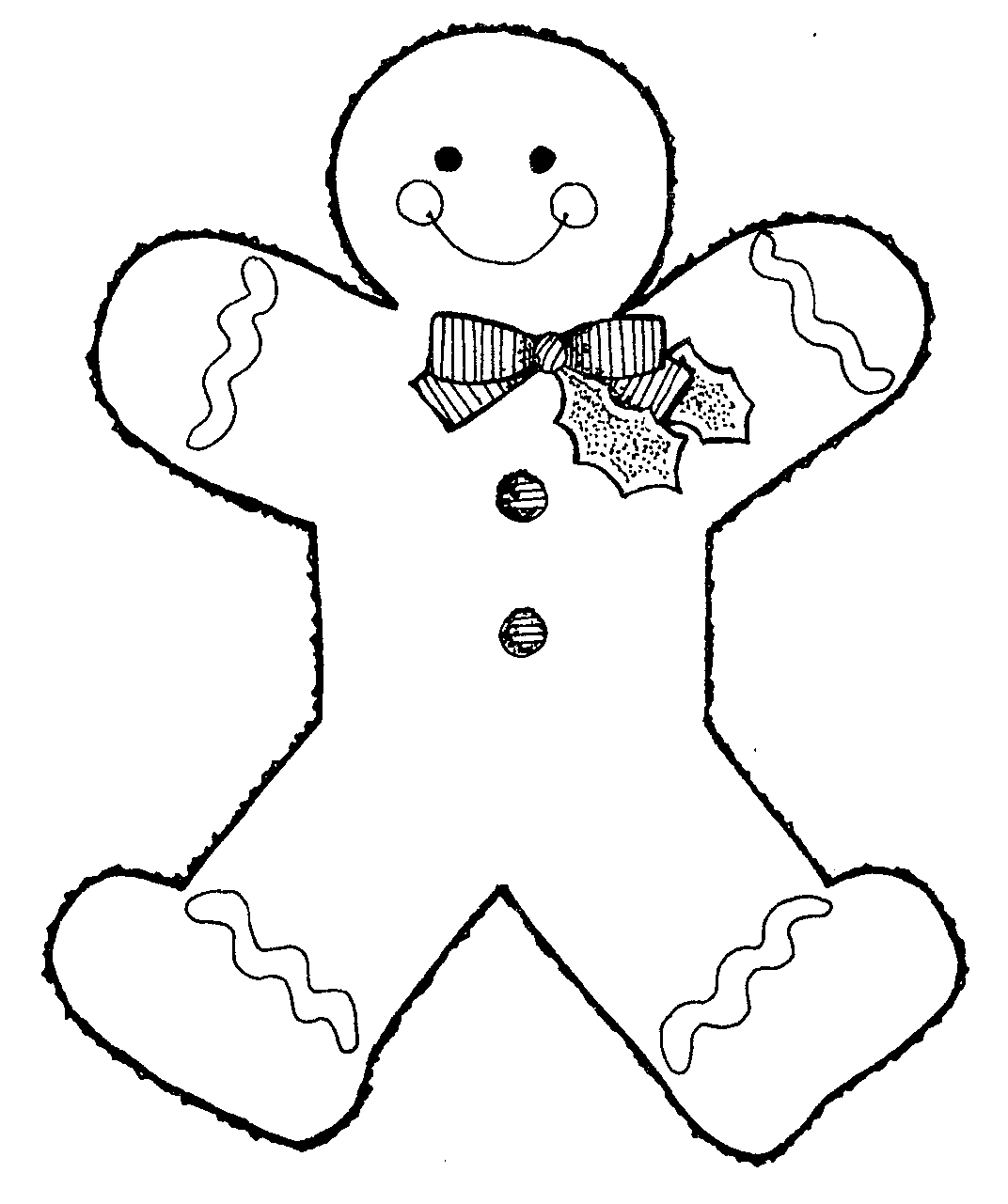 Gingerbread Man Clip Art Free