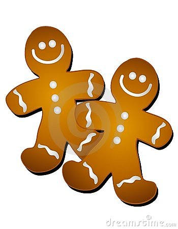 Gingerbread Men Clip Art Royalty Free Stock Photography Image