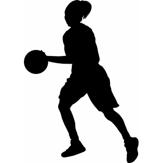 best girls basketball clipart 11242   clipartion