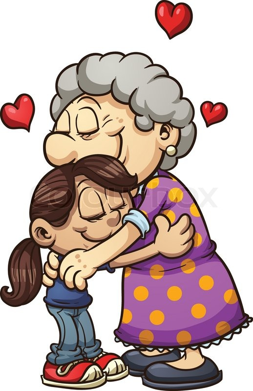 Clip Art Hug Clip Art best hug clipart 17752 clipartion com girl hugging her grandmother vector clip art illustration with