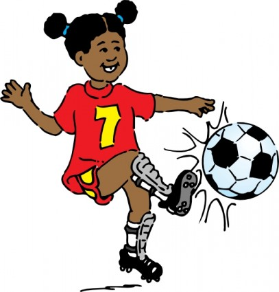 Girl Playing Soccer Clip Art Free Vector In Open Office Drawing