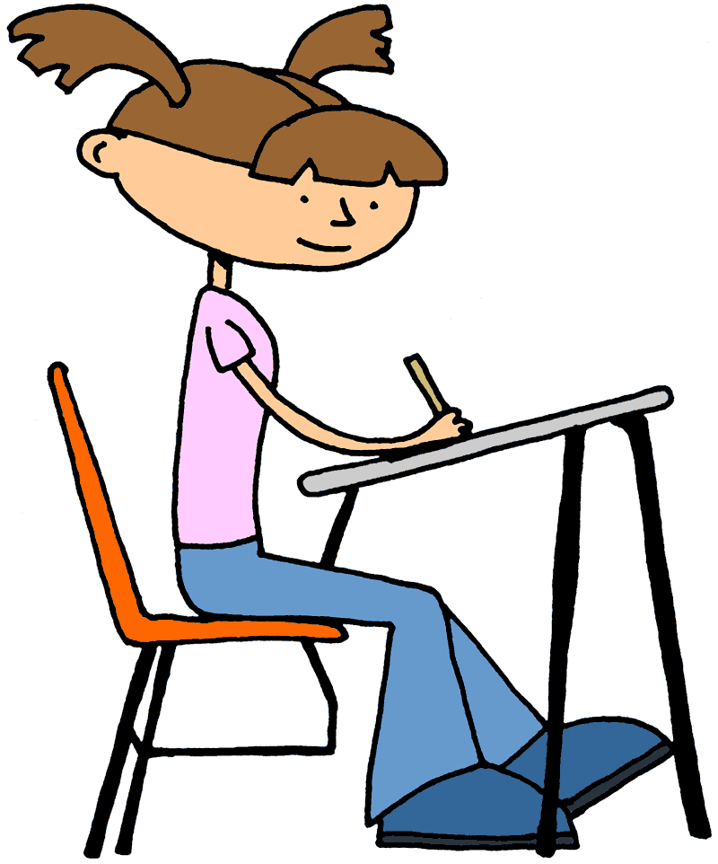 Girl Student At Desk Clipart Free Clipart Images