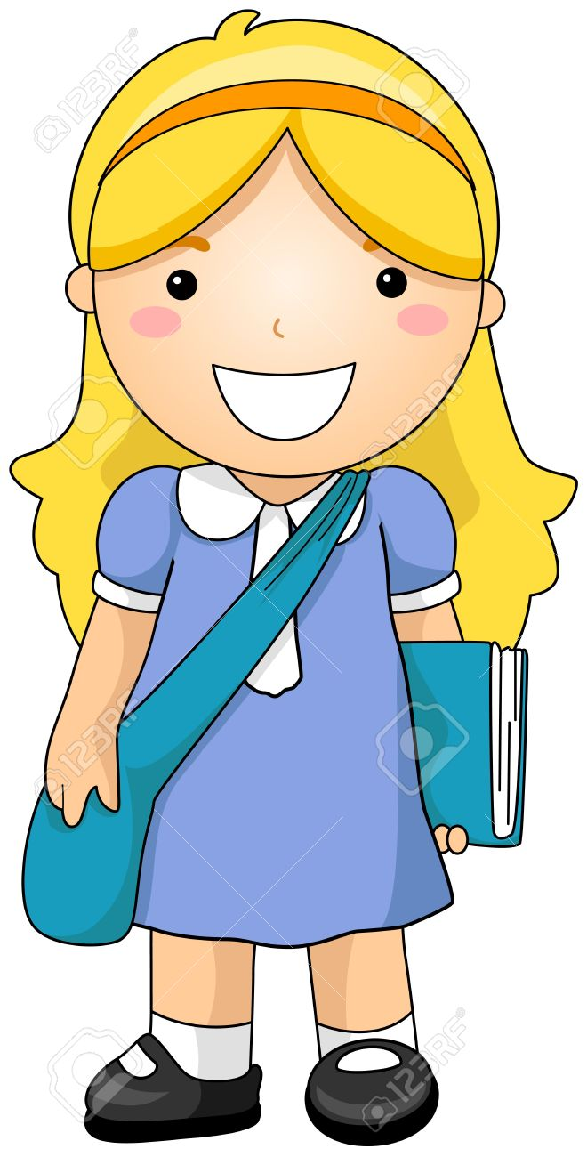 Frees student. Girl clipart clipartion com
