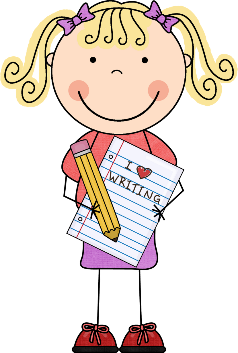 Girl Thinking And Writing Clipart Photos And Wallpapers