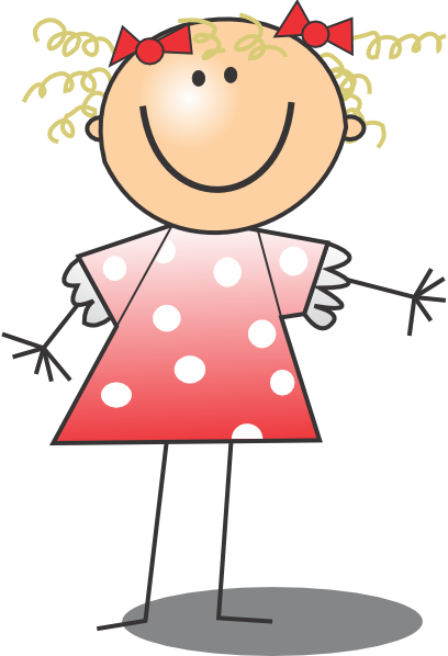Girl Wearing Polka Dot Dress Clip Art At Vector Clip