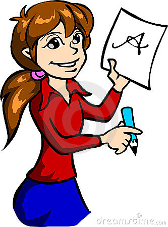Girl Writing Clipart Free Clip Art Images