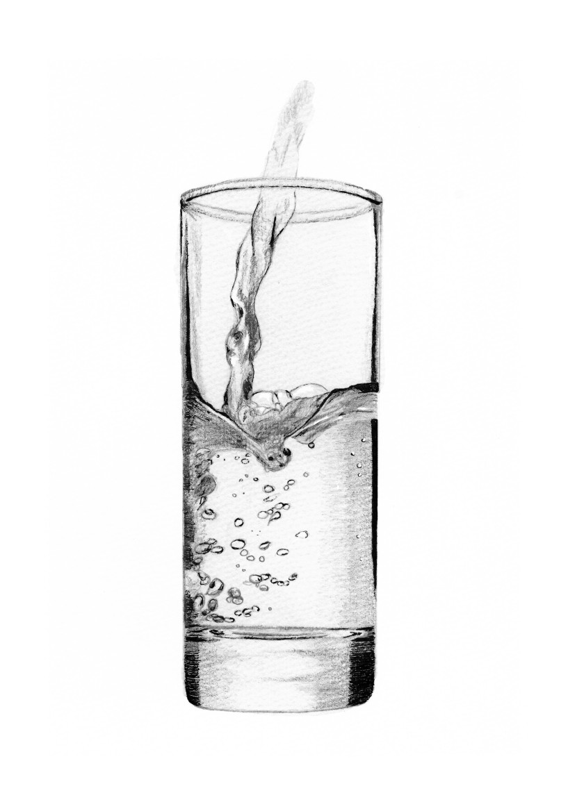 Glass Of Water Clipart Black And White Anyimages